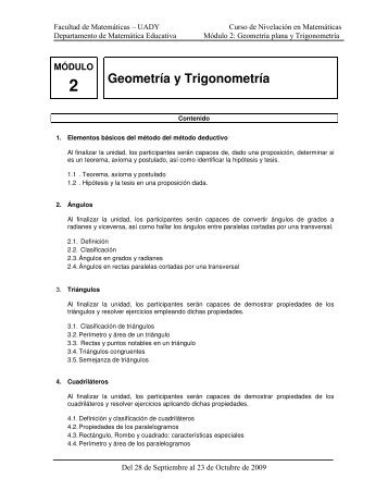 Geometría y Trigonometría - Facultad de Matemáticas