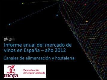 Informe anual del mercado de vinos en España –año 2012