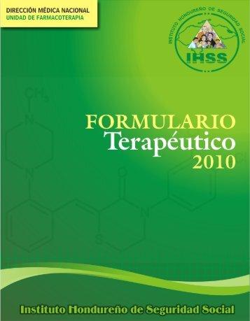 formulario terapeutico - IHSS - Instituto Hondureño de Seguridad ...