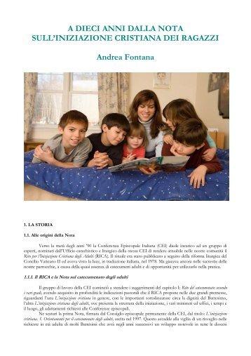 A dieci anni dalla nota sull'iniziazione cristiana dei ragazzi (Andrea ...