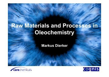 Raw Materials and Processes in Oleochemistry - abiosus