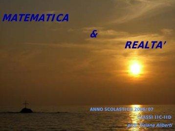 Progetto Matematica e realtà a.s. 2007 - Gatto