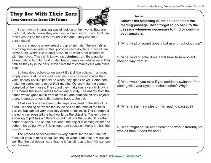 4th grade reading passages pdf