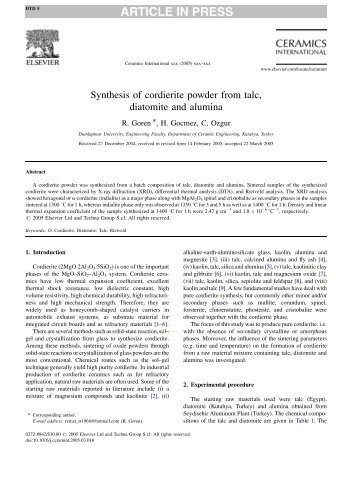 diatomite essay Evaluation of dlatobite-based pyhethhin insecticides, by michael george t it l e of thes i s/project/extended essay evaluation of diatomite.