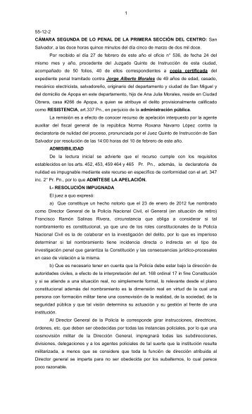 1 55-12-2 CÁMARA SEGUNDA DE LO PENAL DE LA PRIMERA ...