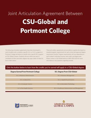 CSU-Global and Portmont College - Blackboard Learn