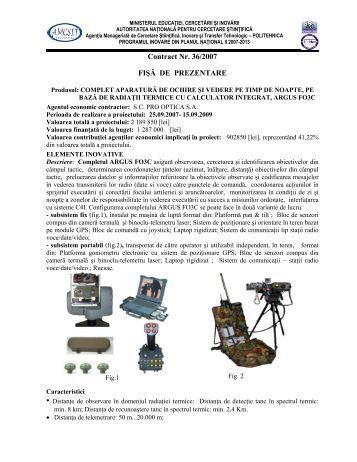 Contract Nr. 36/2007 FIŞĂ DE PREZENTARE - AMCSIT