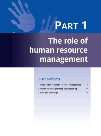 role of human resource management in But in recent years recognition of the importance of human resources management to a company's overall health has grown dramatically this recognition of the.