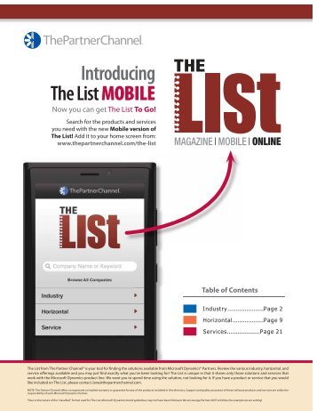 Download The List - The Partner Channel