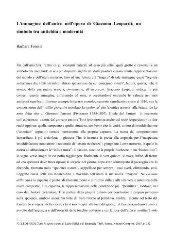 Foresti Barbara - Associazione degli Italianisti Italiani