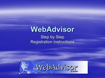 WebAdvisor Instructions