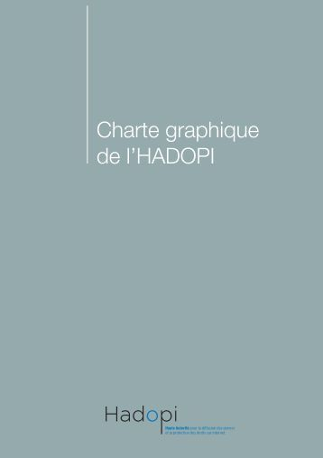 Charte graphique de l'HADOPI - Numerama