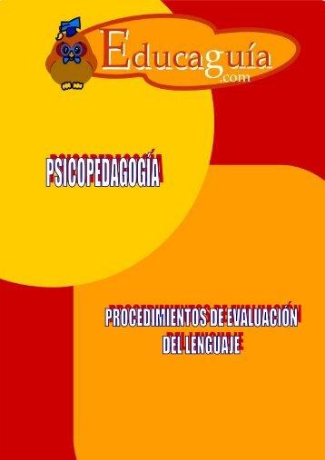 Procedimientos de evaluación del Lenguaje - Educaguia