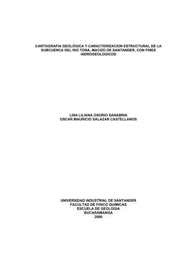 cartografia geológica y caracterizacion estructural de la subcuenca ...