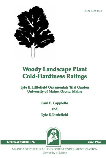 Woody Landscape Plant Cold-Hardiness Ratings - University of Maine