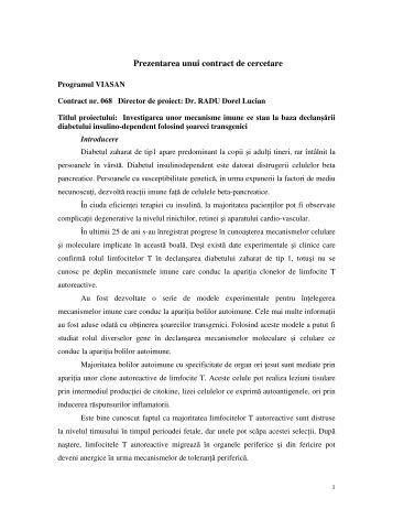 Prezentarea unui contract de cercetare