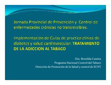 Intervenciones en los servicios de salud en cesación tabáquica.