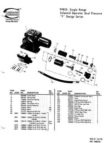 Haldex Hydraulic Gear Pump Two-Stage Hydraulic Log