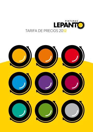 TARIFA DE PRECIOS 2012 - Pinturas Lepanto