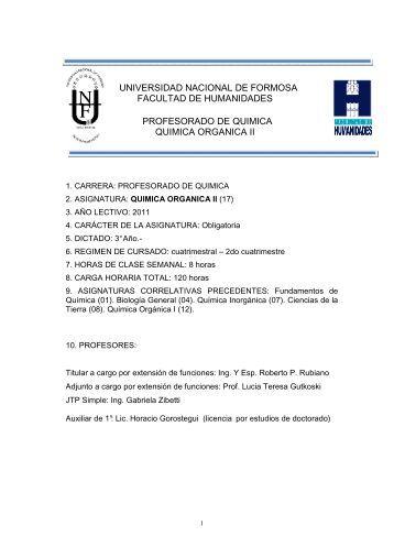 Química Organica II - SIU - Universidad Nacional de Formosa
