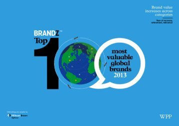Brand value increases across categories
