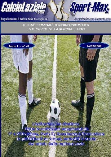 Approfondimento n.46 - venerdi 27 febbraio - Calcio Laziale