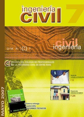 revista ing1 - Colegio de Profesionales Ingenieros Civiles de Entre ...