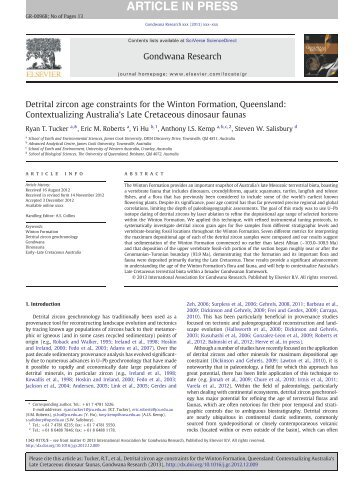 u thhe pb double dating of detrital zircons U–pb dating of detrital zircons for sediment provenance studies—a comparison of laser  scott-type double-pass spray chamber and a t-piece tube attached to the .