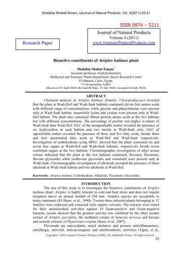 natural product research paper