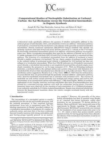title nucleophillic substitution reaction essay Aromatic nucleophilic substitution reactions cellulose, lignin, paper, and other wood products reaction kinetics.