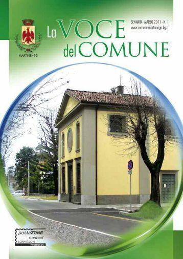 La Voce del Comune 01/2011 - Comune di Martinengo