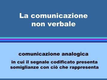 La comunicazione non verbale - Facoltà di Medicina e Chirurgia
