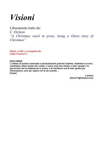 Visioni - commedia di Natale - Maestra Sabry