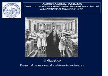 Management diabete - Facoltà di Medicina e Chirurgia