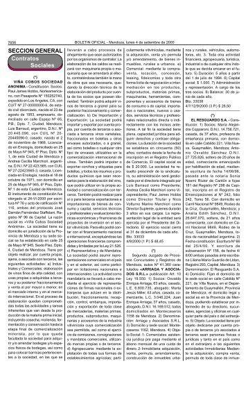 Boletin Oficial N 26231 del 04/09/2000 - Gobierno de Mendoza