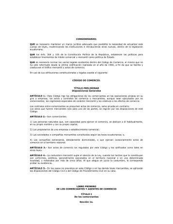 Codigo de Comercio - Asociación de Exportadores de Banano del ...