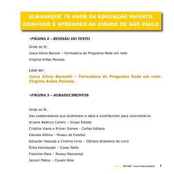 ALMANAQUE 75 ANOS DA EDUCAÇÃO INFANTIL CONVIVER E ...
