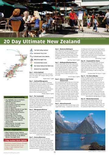 20 Day Ultimate New Zealand - Kirra Tours
