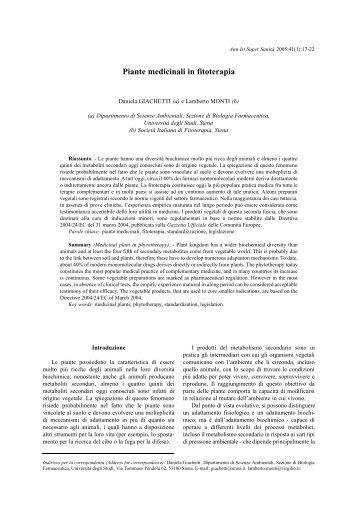 Piante Medicinali Indicazioni e controindicazioni - Il