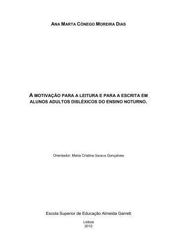 A MOTIVAÇÃO PARA A LEITURA E PARA A ESCRITA EM ... - ReCiL