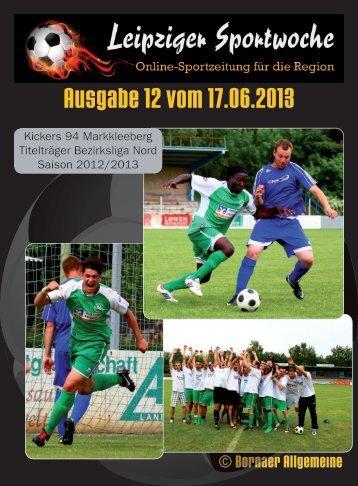 Leipziger Sportwoche - Fußball Zeitung - Ausgabe 12 vom 17.06.2013