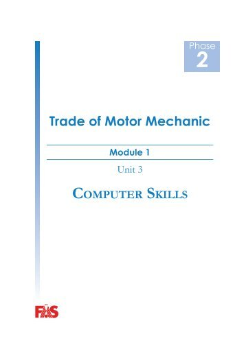 Trade of Motor Mechanic - eCollege