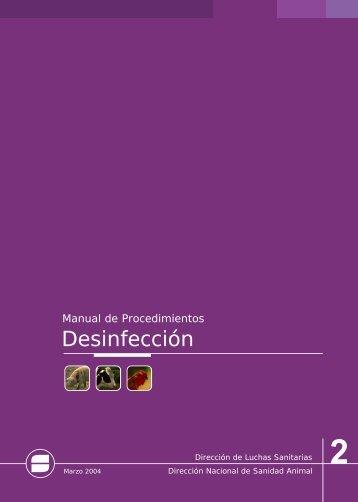 Manual de Procedimientos Desinfección - SENASA - Autenticación ...