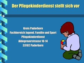 Präsentation Pflegekinderdienst - Kreis Paderborn