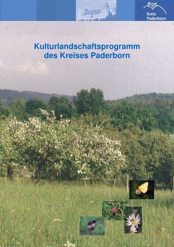 Richtlinie für das Kulturlandschaftsprogramm des Kreises Paderborn
