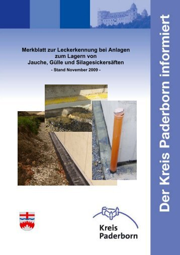Merkblatt zur Leckerkennung bei Anlagen zum ... - Kreis Paderborn