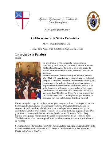 Celebración de la Santa Eucaristía - Iglesia Episcopal en Colombia