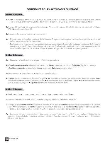 1. solucionario de las fichas de repaso de lengua castellana