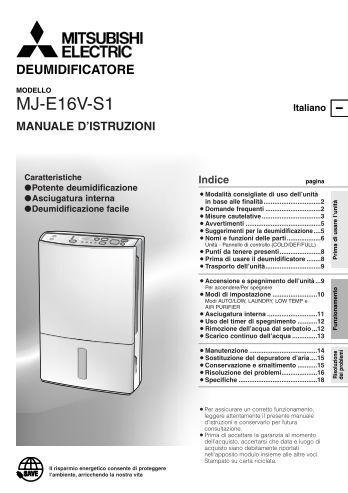 Visualizza il file - Climatizzazione - Mitsubishi Electric