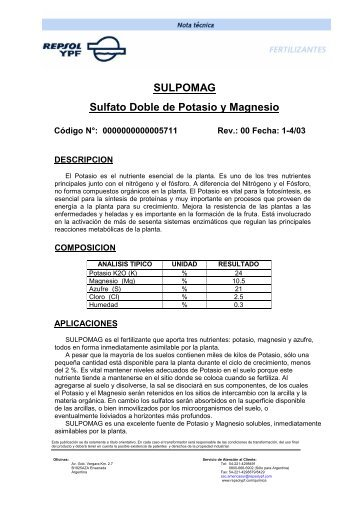 SULPOMAG Sulfato Doble de Potasio y Magnesio - Bioendesa ...